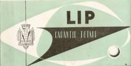 Certificat De Garantie Des Montres Lip, Dato De 1960, Achetée Chez Un Horloger De Monein (64), Carte Postale Et Bulletin - Frankrijk