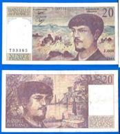 France 20 Francs 1981 Serix J 008 Que Prix + Port Debussy Franc Frcs Frs Paypal Bitcoin OK - 1962-1997 ''Francs''