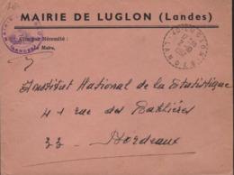Cachet Facteurs-Receveurs De 40-Luglon-Landes 2-I0 I967 - Poststempel (Briefe)
