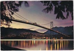 Vancouver - Lions Gate Bridge At Dusk - (Canada) - Vancouver