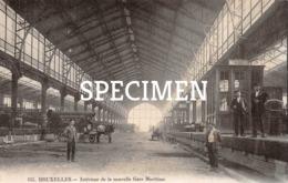 155 Intérieur De La Nouvelle Gare Maritime - Carte Photo - Bruxelles - Brussel - Spoorwegen, Stations