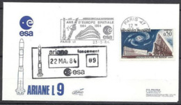 KZ--040--  GUYANE- LANCEMENT DE LA FUSEE ARIANE L 9 - 09 Eme TIR , ( 22 MAI 1984) - Guyane Française (1886-1949)