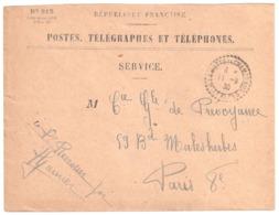 LA MOTTE EN CHAMPSAUR Hautes Alpes Envel SERVICE 819 Franchise Ob 1930 Recette Distribution Cercle Pointillé Lautier B4 - Storia Postale