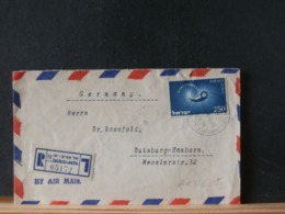 A10/605   LETTRE RECOMM.   ISRAEL TO GERMANY  1956 - Israël