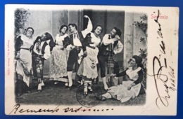 1904 Sorrento. La Tarantella Stengel&Co - Danses