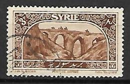 SYRIE     -      1925  .  Y&T N° 163 Oblitéré.    Pont De Daphné - Oblitérés