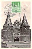 1950 .carte Maximum .baden .102542 . Chateau .cachet Lubeck . - [7] Federal Republic