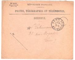 VERT Seine Et Oise Enveloppe De SERVICE N° 819 Franchise Ob 1930 Recette Distribution Cercle Pointillé Lautier B4 - Manual Postmarks