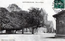 CPA -  SAINTE  MERE  EGLISE  (50)  Place De L' église -  Destinataire Mr Céron, Rentier à Cerisy La Salle 50 - Sainte Mère Eglise