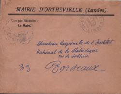 Cachet Facteurs-Receveurs De 40-Orthevielle-Landes 9-I I967 - Poststempel (Briefe)