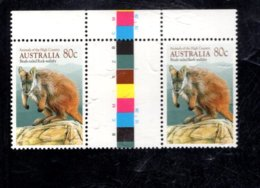 835832710 1990 SCOTT 1169 POSTFRIS MINT NEVER HINGED EINWANDFREI (XX)  ANIMAL BRUSH-TAILED ROCK-WALLABY GUTTER PAIR - Neufs