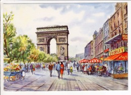 Cp Illustrateur Raphael Champs Elysees Arc De Triomphe - Illustratori & Fotografie