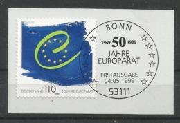 BRD 1999  Mi.Nr. 2049 , EUROPA  CEPT Mitläufer - 50 Jahre Europarat - Auf Papier - Gestempelt / Used / (o) - 1999