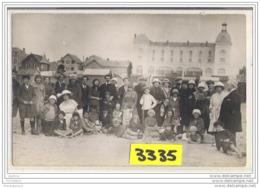 7594 AK PC CARTE PHOTO 3335 FAMILLE GROUPE SUR LA PLAGE A IDENTIFIER - Cartoline