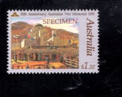 835843099 1991 SCOTT 1209 POSTFRIS MINT NEVER HINGED EINWANDFREI (XX)  SPECIMEN AUSTRALIAN WAR MEMORIAL - Neufs