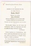 Dp. Braet Elodie. Wed. Dierckens Alfons. ° Maldegem 1883 † Merksem 1964 - Religion & Esotérisme