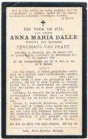 Dp. Dalle Anna. Wed. Van Praet Ferdinand. ° Sijsseele 1813 † Maldegem 1900 (2 Scan's) - Religion & Esotérisme