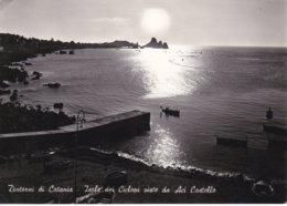 ACI TREZZA - ACI CASTELLO - DINTORNI DI ACIREALE E CATANIA - PANORAMA DELLA RIVIERA DEI CICLOPI DA ACI CASTELLO - 1955 - Acireale