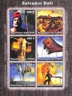 D - [38067]TB//ND/Imperf-Tchad 2002 - ND/Imperf - Célébrité, Peintre - Salvador Dali. - Tchad (1960-...)