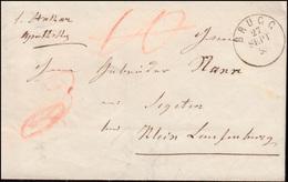 Baden Vorphilatelie Faltbrief BRUGG 27.9.1853 Nach Segeten Bei Kleinlaufenburg - Duitsland