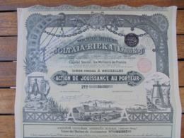 RUSSIE - BRUXELLES 1899 - MINIERE JOLTAIA-RIEKA : KRIVOI ROG -ACTION DE JOUISSANCE - BELLE ILLUSTRATION - Azioni & Titoli