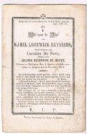 Dp. Reyniers Karel. Wed. De Neve Carolina. De Weert Juliana. ° Maldegem 1800 † Adegem 1872  (2 Scan's) - Religion & Esotérisme