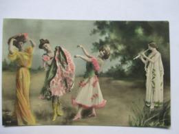 SCENE GALANTE   -  QUATRE PERSONNES       ......         PHOTO REUTLINGER         TTB - Mujeres