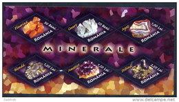 ROMANIA 2006 Minerals Block MNH / **.  Michel Block 383 - Unused Stamps