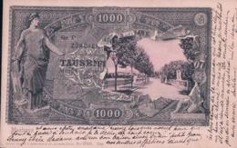 Montreux Suisse Sur Billet De 1000 Frs (1534) - Monedas (representaciones)