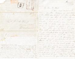 1843 Faltbrief Mit Stempel CANNANORE Nach Madras Ausgemachte Kugelschreiber Notiz - ...-1852 Prephilately