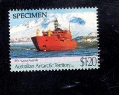 835904320 1991 SCOTT L82 POSTFRIS MINT NEVER HINGED EINWANDFREI (XX)  SPECIMEN RESEARCH SHIP AURORA AUSTRALIS - Territoire Antarctique Australien (AAT)