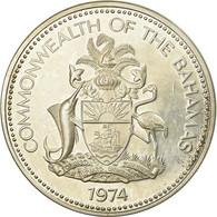 Monnaie, Bahamas, Elizabeth II, 5 Dollars, 1974, Franklin Mint, U.S.A., SPL - Bahamas