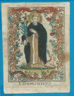 Holycard    St. Dominicus    18 Th Century   Fruitiers - Imágenes Religiosas