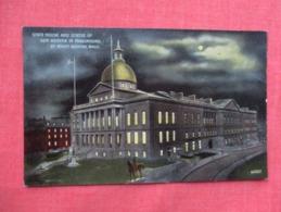 Night View   State House  Boston  Massachusetts >  Ref 3609 - Boston