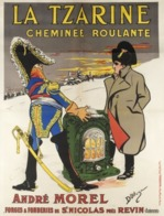 @@@ MAGNET - La Tzarine, Cheminée Roulante. André Morel, Forges Et Fonderies De St Nicolas Près Revin (Ardennes) - Pubblicitari
