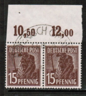 GERMANY  Scott # 562 VF USED IMPRINT PAIR (Stamp Scan # 533) - [7] Federal Republic
