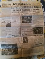 C1  Journal RESISTANCE Voix De Paris 9 Mai 1945 La PAIX A COMMENCE A MINUIT   PORT COMPRIS - Revues & Journaux