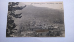 Carte Postale (  Y8 ) Ancienne De Retournac , Village De Vousse Et Ruines D Artias ( Pli Au Centre ) - Retournac