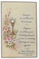 IMAGE PIEUSE :   CARTE PEINTE SUR CELLULOID ** JULES FROMENTIN BANYULS SUR MER 7 MAI 1891 - Devotion Images