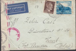 Germany - Censored Airmail Cover / Luftpost, MiNr. 767, 787 MiF Brief. BERLIN 1941 - Werwik. - Germany
