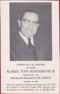 Albert Van Roosbroeck De Smedt Notaris Mol Kempen Heist-op-den-Berg 1969 Doodsprentje Bidprentje - Imágenes Religiosas