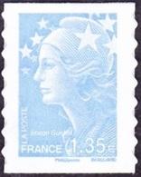 France Autoadhésif N°  489 ** Au Modèle 4476 - Marianne De Beaujard - Le 1.35 Eur. Bleu Ciel - Adhesive Stamps