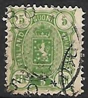 FINLANDE    -    1889.    Y&T  N° 29 Oblitéré . - 1856-1917 Russian Government