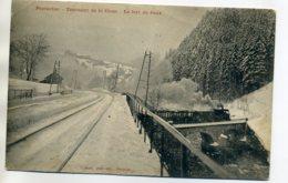 25 PONTARLIER Carte MOLLE - Le Train Au Tournant De La Cluse Fort De Joux Hiver Neige 1908 Timb     /D17-2017 - Pontarlier