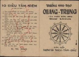 Carte Sportif Sport Judo Judoca Truong Nhu Dao Quang Trung Dakau Saïgon Vietnam Viet Nam Giam Doo 10 Dieu Tam Niêm 1966 - Autres