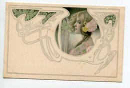 VIENNOISE 003 M.M VIENNE Nr 86  - Jolie Carte ART NOUVEAU Portrait Jeune Femme 1900 Dos Non Divisé - Vienne