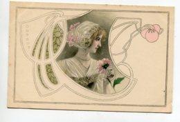 VIENNOISE 004 M.M VIENNE Nr 86  - Jolie Carte ART NOUVEAU Portrait Jeune Femme 1900 Dos Non Divisé - Vienne