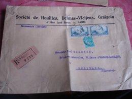 Recommande Paire Timbre Moulin Alphonse Daudet 2 F  La Rochelle - 1877-1920: Periodo Semi Moderno