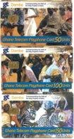 @+ Lot De 3 Cartes Du Ghana à Puce - Damba - Ghana