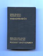 English-Icelandic, Icelandic-English.  Pocket Dictionary, 176 Pages. - Dictionaries, Thesauri